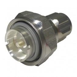 32N-716-50-1 Adapter, Between-Series,  7/16 DIN Male to Type-N Male, Straight, Huber/Suhner