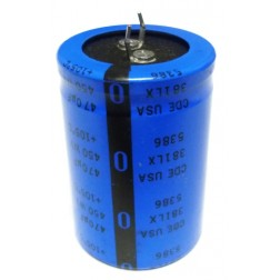 381LX471M450 Capacitor, snaploc, mfg: cde, 470 uf/450v. 105 deg c, CDE