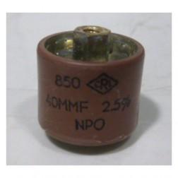 580040-5P Doorknob, 40pf 5kv, Clean pullout