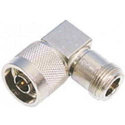 50896  Type-N IN Series Adapter, Male to Female, Right Angle, Square Body