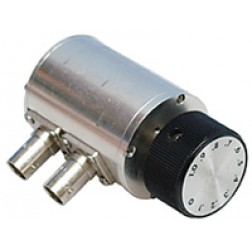 50R-028 Attenuator, Rotary, BNC Female, 0-1dB, 0.1dB Steps, 2 Watt, DC-1 ghz,  JFW (Used Condition)