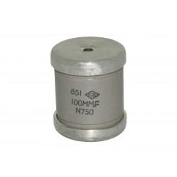 510100-15 Doorknob Capacitor, 100pf 15kv, Centralab
