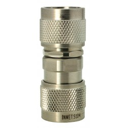 5104 Adapter, type-n(male)--(male), 0-18 ghz, passivated s.Steel, AERO