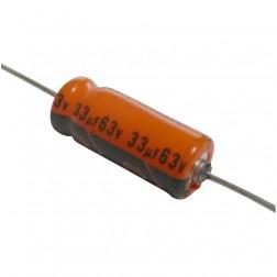 516D Capacitor, elec. 33uf 63v, Axial sprague