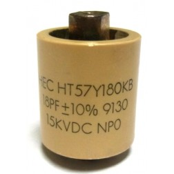 570018-15P; Doorknob Capacitor, 18pf 15kv, High Energy (Clean Pullout)