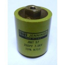 CRL857-200 Capacitor, doorknob, 200pf 7.5kv 10% large size