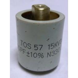 570500-15P Doorknob Capacitor, 500pf 15kv, (Clean Pullout)