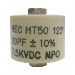 580020-7 Doorknob, 20pf 7.5kv, Ht50v200ka 10% high energy