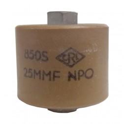 580025-5P - Doorknob Capacitor 25pf, 5kv (Clean Pullout)