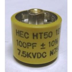 580100-7 Doorknob, 100pf 7.5kv 10%