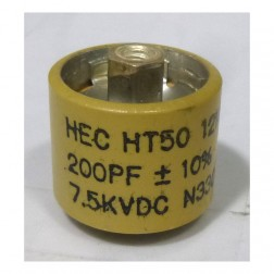 580200-7 Doorknob Capacitor, 200pf 7.5kv