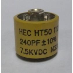 580240-7 Doorknob, 240pf 7.5kv