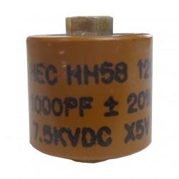 581000-7 Doorknob Capacitor, 1000pf 7.5kv