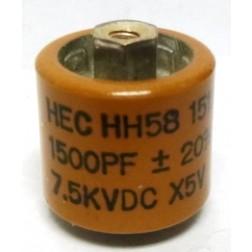 581500-7 Doorknob, 1500pf 7.5kv 20%