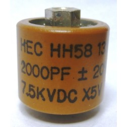 582000-7 Doorknob Capacitor 2000pf 7.5kv