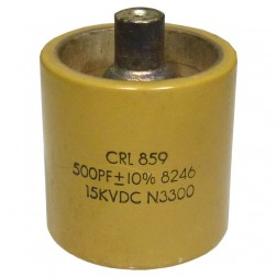 590500-15  Doorknob Capacitor, 500pf 15kv, High Energy (Clean Used)