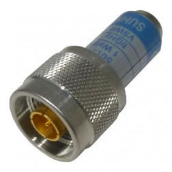 65N-50-0-11/133  Dummy Load, Type-N Male, 1 Watt, DC-6 GHz, SUHNER