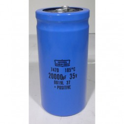747D Capacitor, 20000uf 35v, 105 c, mfg: chemicon