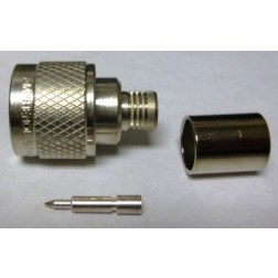 82-340-1052 Type-N Male Crimp Connector, Straight, Knurled Nut, APL/RF