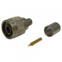 82-4426-1001 Type-N Male Crimp Connector, Straight, Knurled Nut, (Industrial Version) APL