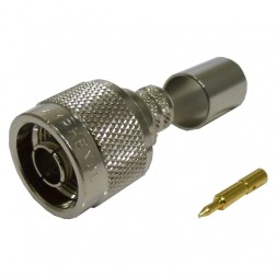 82-4426-11RFX Type-N Male Crimp Connector, Straight, Knurled Nut, (Commercial Version), APL/RF