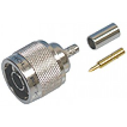 82-5375-RFX Type-N Male Crimp Connector, Straight, Knurled Nut,(Commercial Version) APL/RF