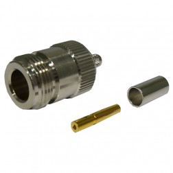 82-5376-RFX Type-N Female Crimp Connector, Straight, (Commercial Version) RFI