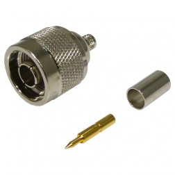 82-6152 Type-N Male Crimp Connector, Straight,Knurled Nut, (Industrial Version), APL/RF