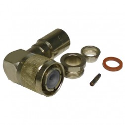 82-833 HN Male Clamp Connector, Right Angle; (Industrial Version), APL/RF