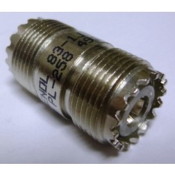 83-1J  IN Series Adapter, UHF Female to Female Barrel (SO239), Amphenol