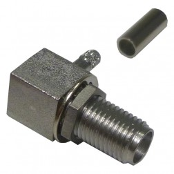 9613-9523-003 Connector, r.A.Sma(f) crimp, Bulkhead for rg316, rg174, JACK