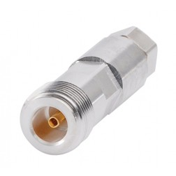F1PNF Type-N  Female Connector, FSJ1-50 (Good to 8 GHz)