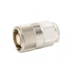 F1PNM-HF Type-N Male Connector, FSJ1-50  (Good to 18 GHz)
