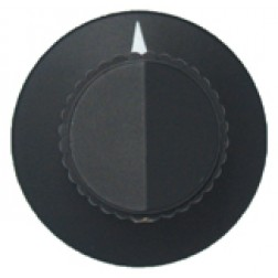 KNOB2C Tuning knob, black w/skirt