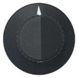 KNOB2C Tuning knob, black w/skirt