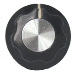 KNOB2D Tuning knob, black w/skirt