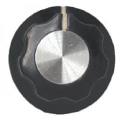 KNOB2D Tuning knob, black w/skirt
