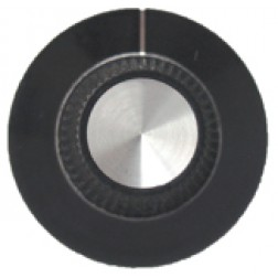 KNOB2E Tuning knob, black w/skirt