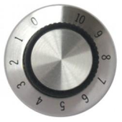 KNOB2F Tuning knob, black w/skirt