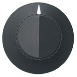 KNOB2G Tuning knob, black w/skirt