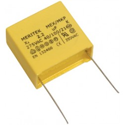 MEX225K275VAC Capacitor, emi suppression, 2.2 uf 275 vac