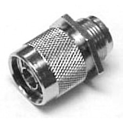 NM-002 Type-N Male Bulkhead Connector, Back mount with gasket,