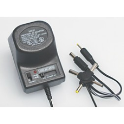 34021 Universal AC Adapter, 1.5-12v, 300ma max, Selectable polarity, 6 plugs, 6 foot power cord