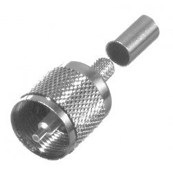 RFU505-ST UHF Male Crimp connector