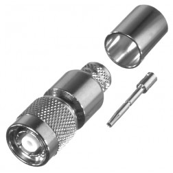 RP1202-I Connector, TNC Reverse Polarity Male Crimp, RFI