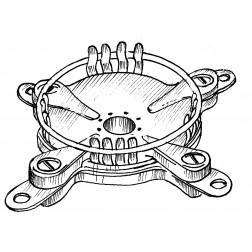 SK1A Tube socket spec. 4CX800A