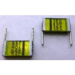 B37541C Capacitor, polyester, radial, ; .01 uf 250 vdc/160 vac