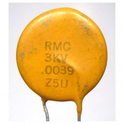 C392-3KV Capacitor, disk .0039uf-3kv