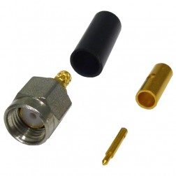 CAO-102-0-01 Connector, SMA Male Crimp, HHS