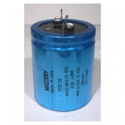 CG-ATLAS Capacitor 40000 uf 25v can, Mallory